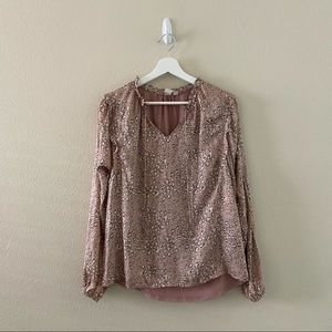 Anthropologie Dolan Leopard Print Long Sleeve